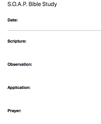A simple Bible study template I created in Evernote